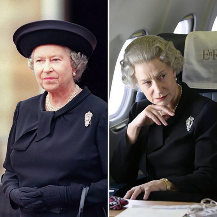Reina Isabel y Helen Mirren