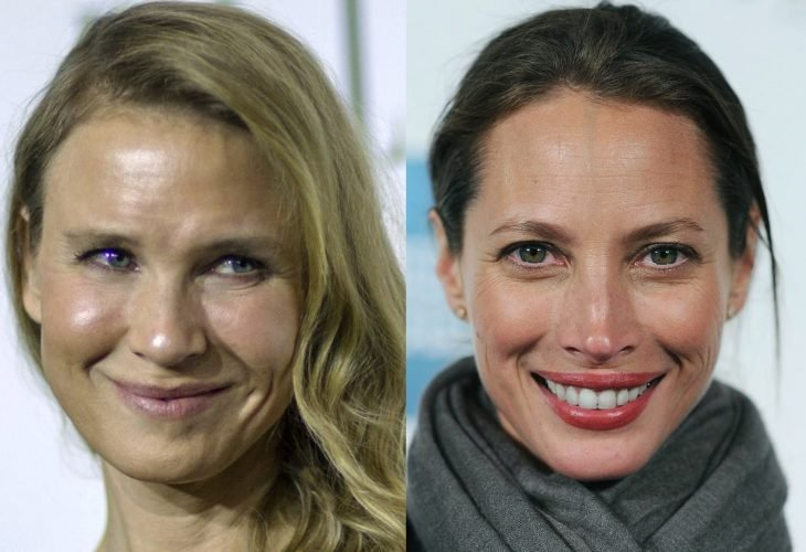 comparación entre Renée Zellweger y Christy Turlington