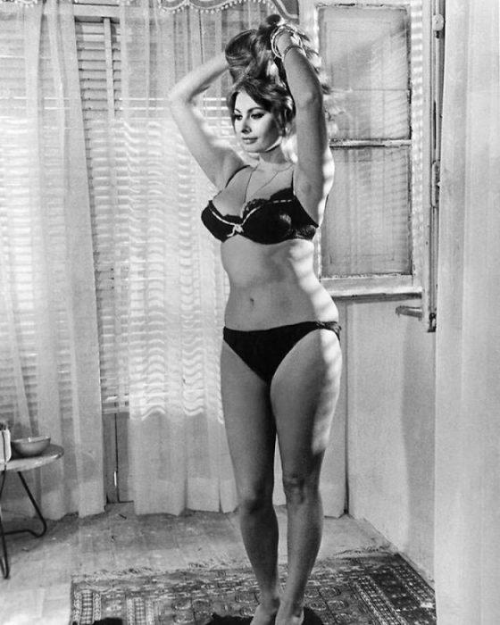 Sophia Loren a blanco y negro, 1965