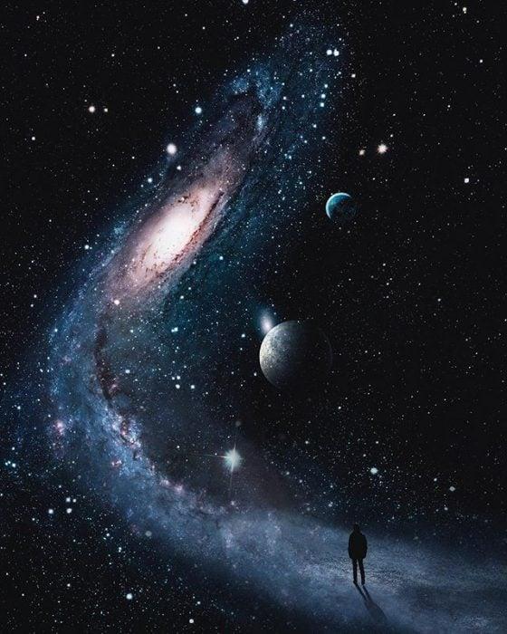 montaje de caminata espacial
