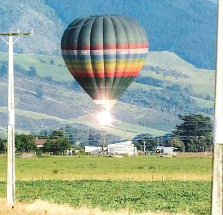globo aerostático cayendo