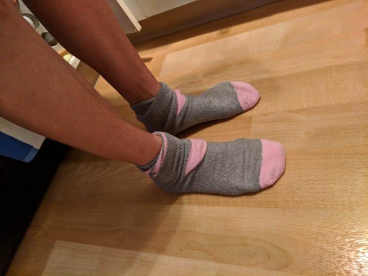 calcetines al revés