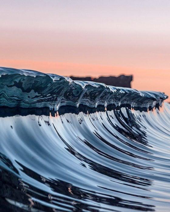 ola de mar satisfactoria