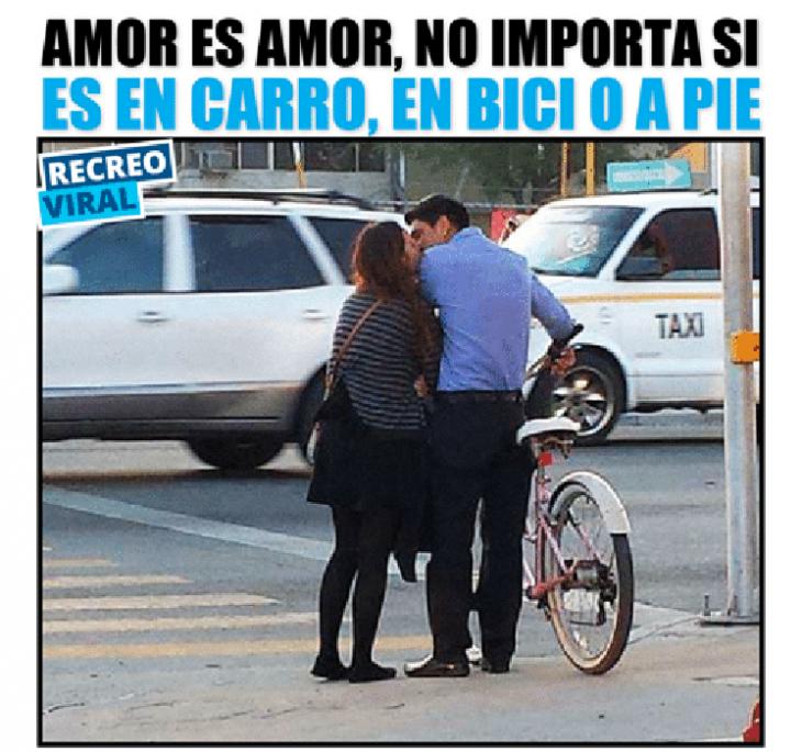 meme amor en bicicleta
