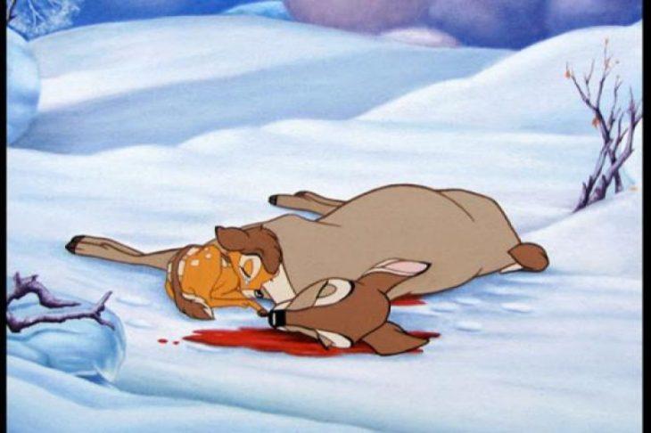 muerte de la mamá de bambi