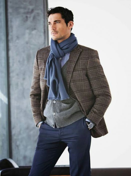 david gandy con bufanda