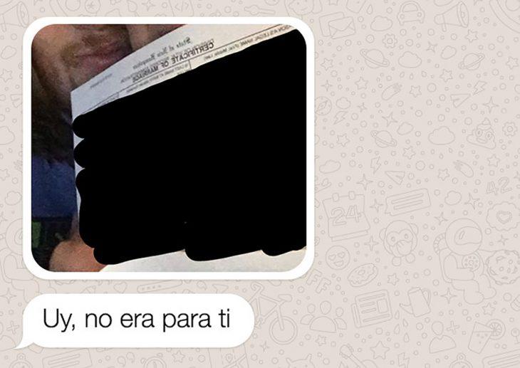 mensaje de whatsapp certificado de matrimonio