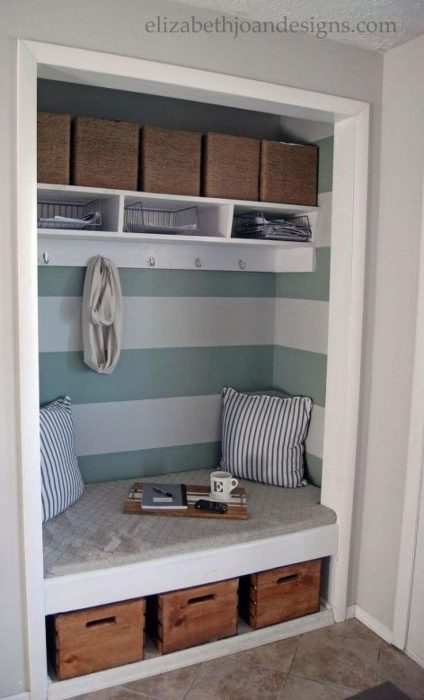 espacio de armario para lectura