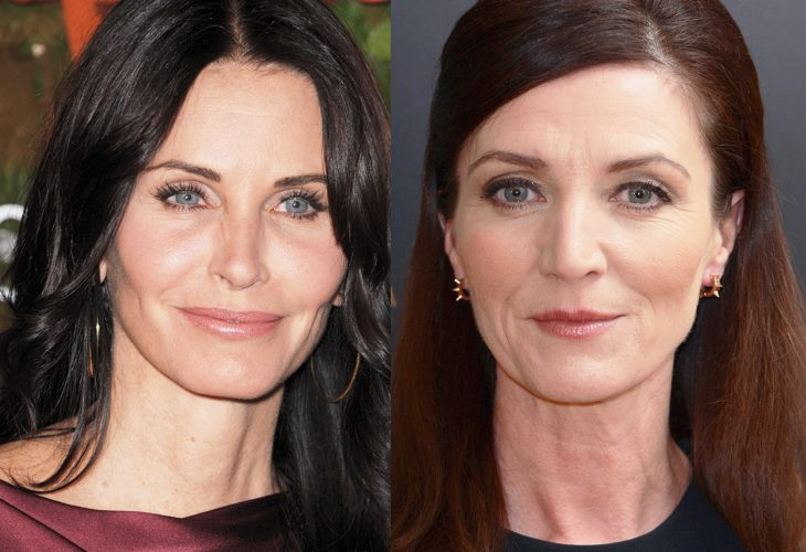 comparación entre Courtney Cox y Michelle Fairlley