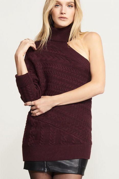 suéter sin una manga