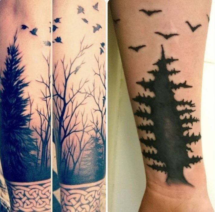 tatuaje de árbol expectativa vs. realidad