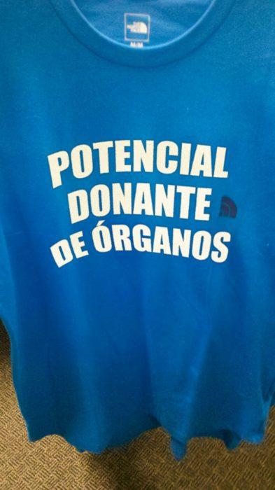 camiseta potencial donante de órganos