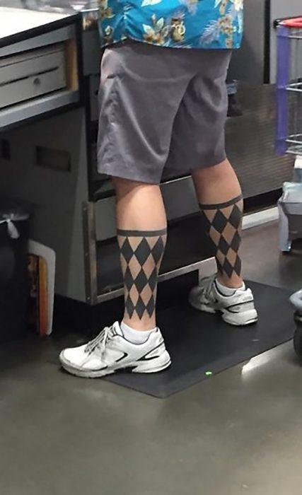 tatuaje de calcetines