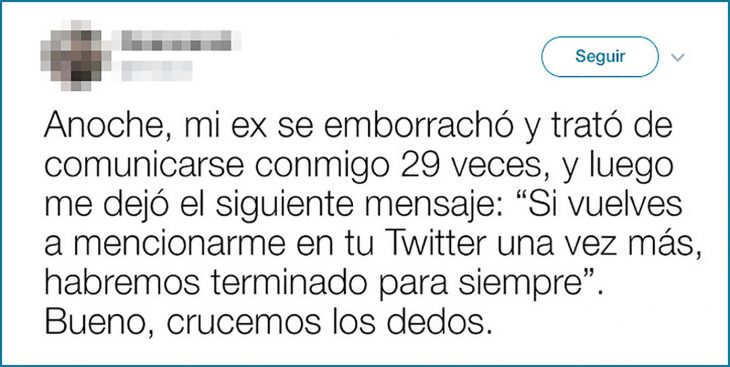 tuit sobre ex borracho