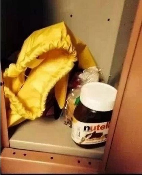 nutella en casillero