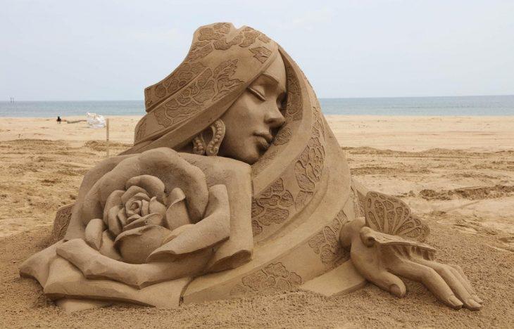 Escultura de arena en Taiwan
