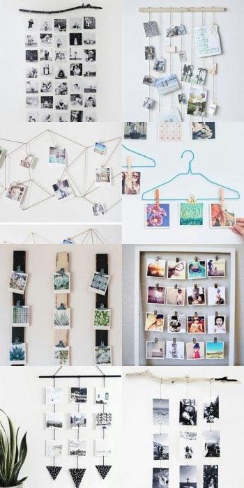 paredes decoradas con galerías de fotos