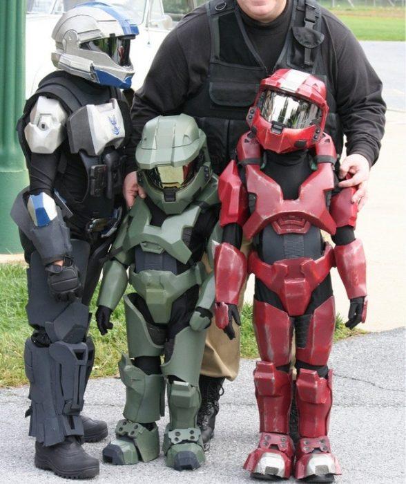 niños disfrazados de Halo