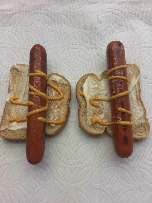 hotdogs en pan de caja