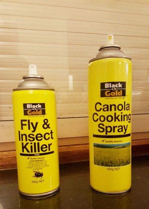 lastas de insecticida vs aceite para cocinar