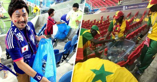 Cover Japón y Senegal recogieron su basura del estadio después del partido
