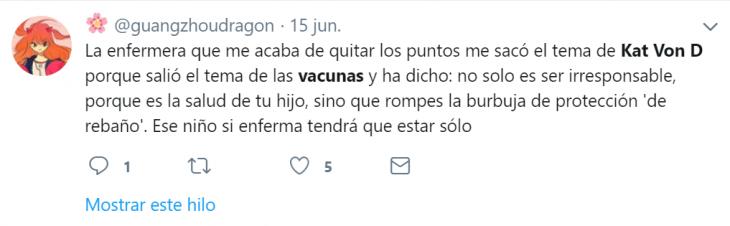 kat von d antivacuna tweet
