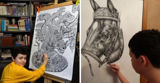 Cover Un chico de 15 años dibuja como si hubiera estudiado en la escuela de artes