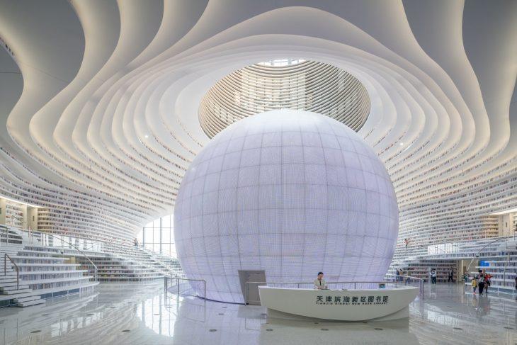 Biblioteca de Tianjin Binhai, China