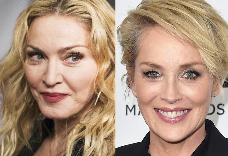 comparación entre Madonna y Sharon Stone