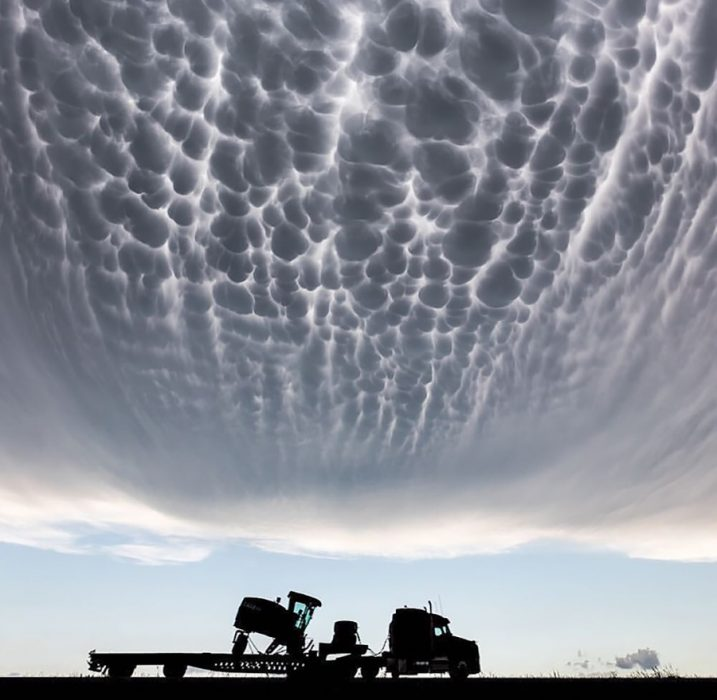 Nube mastodóntica en Kansas, Estados Unidos