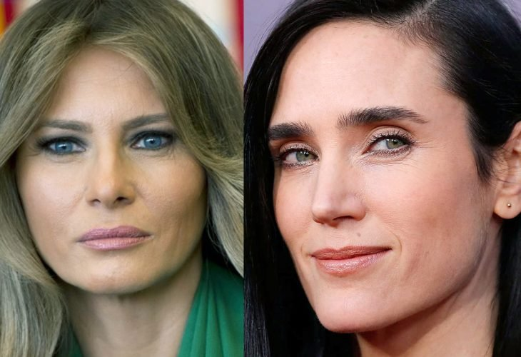Melania Trump y Jennifer Connelly comparación