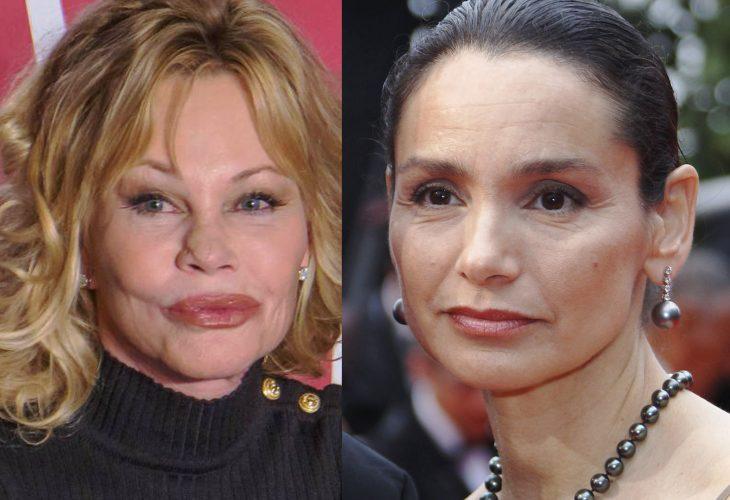 comparación entre Melanie Griffith y Gladys Portugues