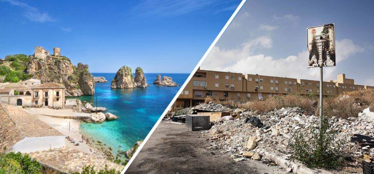 lo bonito y lo feo de Palermo, Italia