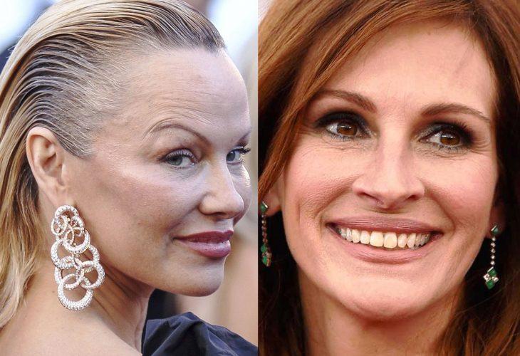 comparación entre Pamela Anderson y Julia Roberts