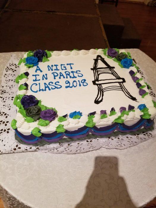 pastel de La Torre Eiffel mal hecho