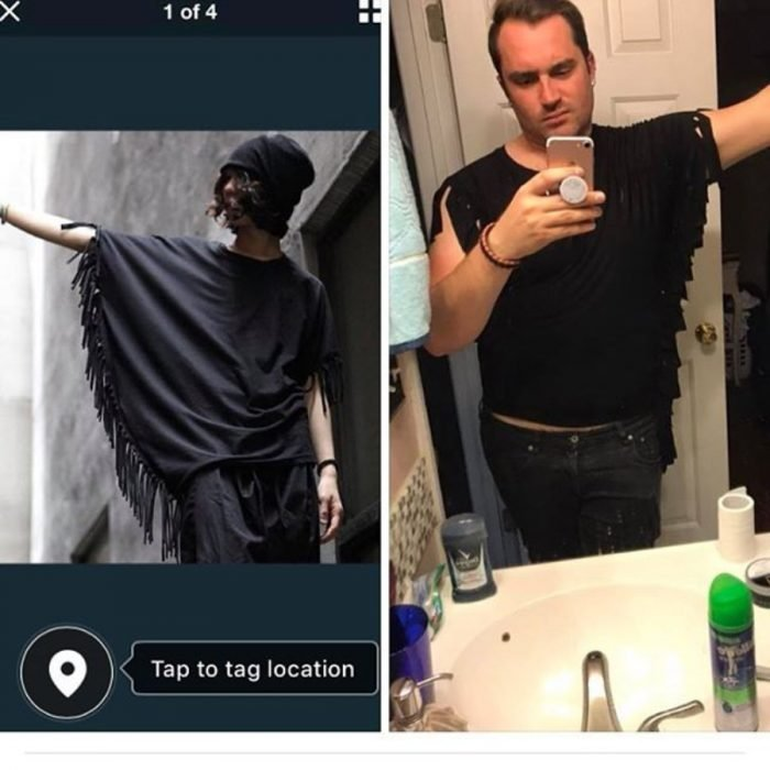 camisa para hombre expectativa vs realidad