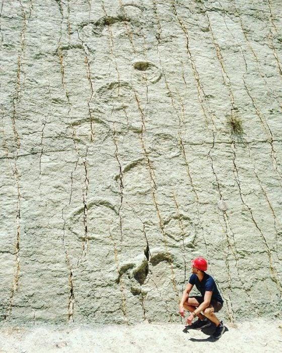Pisadas de dinosaurio en Bolivia