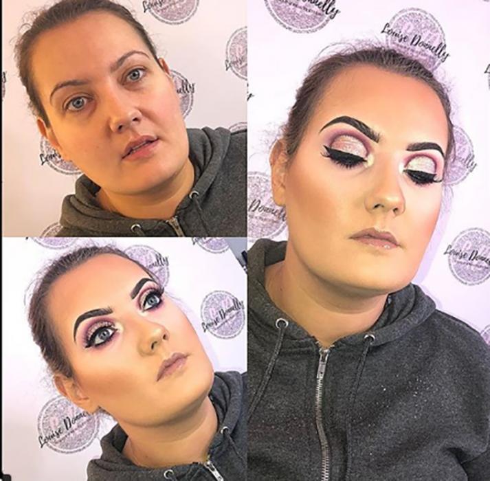 maquillaje de mujer que parece de drag queen