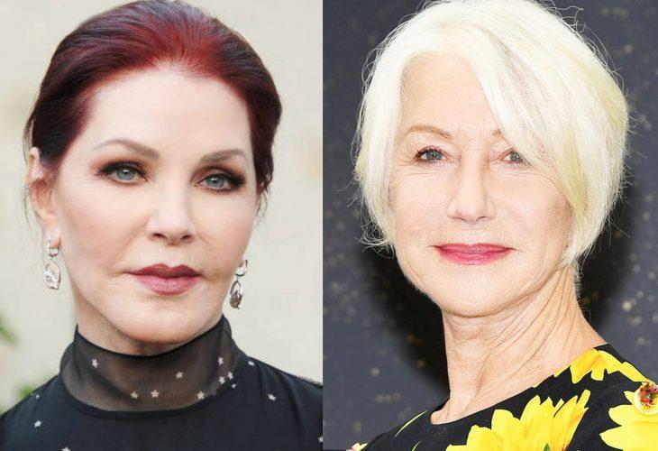 comparación entre Priscilla Presley y Helen Mirren