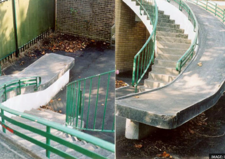 rampa para discapacitados mal hecha