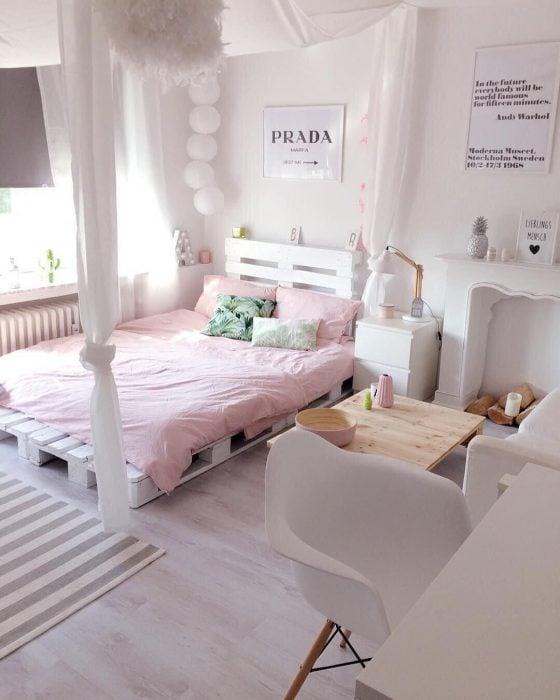 base para cama de paletas de madera