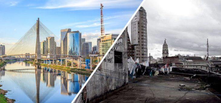 lo bonito y lo feo Sao Paulo, Brasil