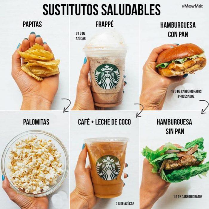 sustitutos saludables de comida rápida