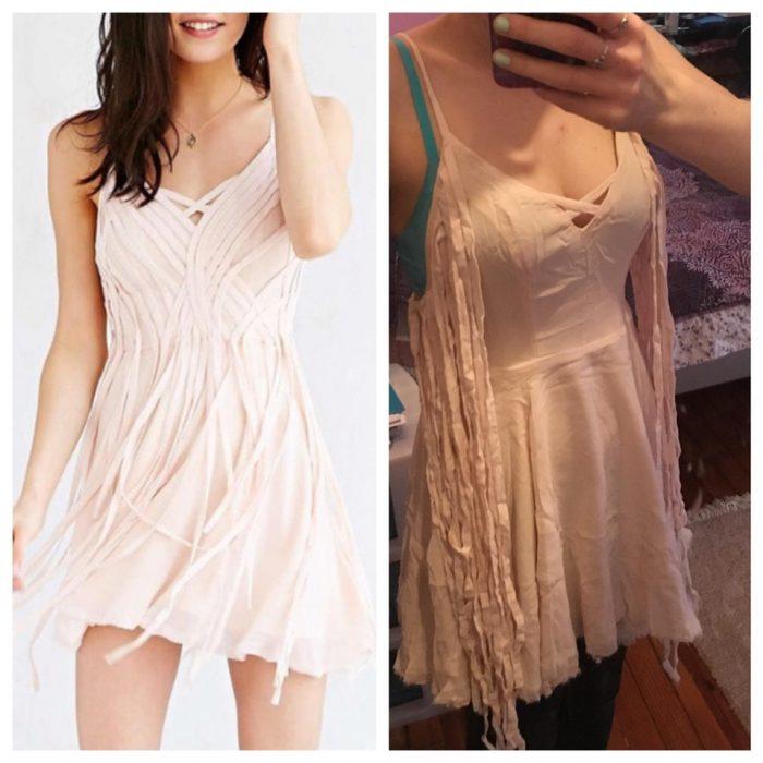 vestido con tiritas expectativa vs realidad