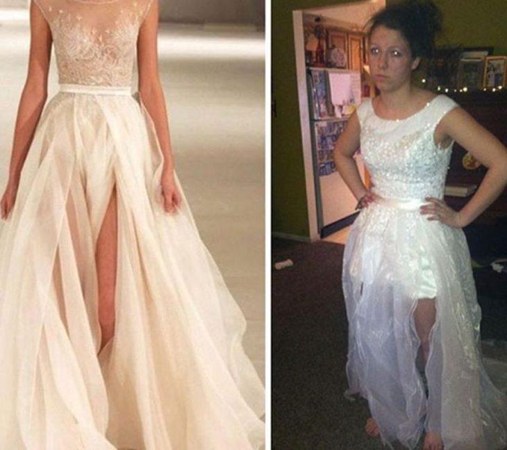vestido de graduación expectativa vs realidad