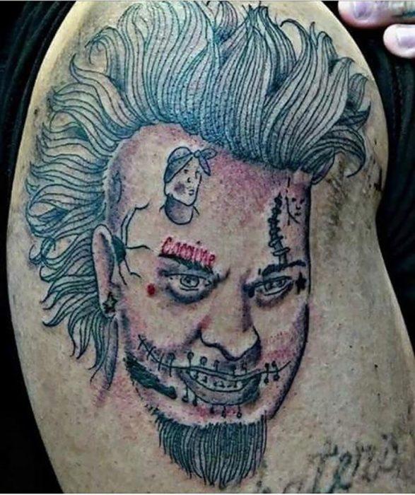 tatuaje feo de un punk