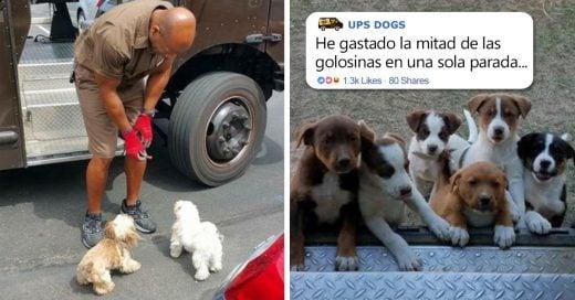 Cover Repartidores de UPS muestran fotografías con los perritos