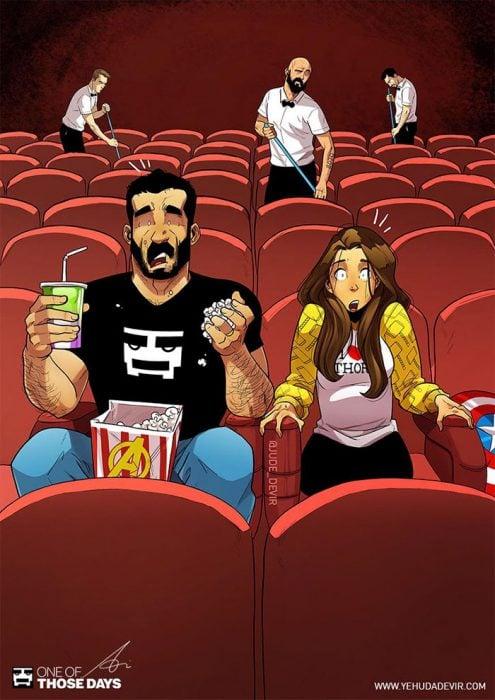 ilustraciones vivir con tu pareja
