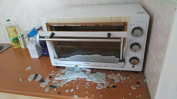 microondas descompuesto