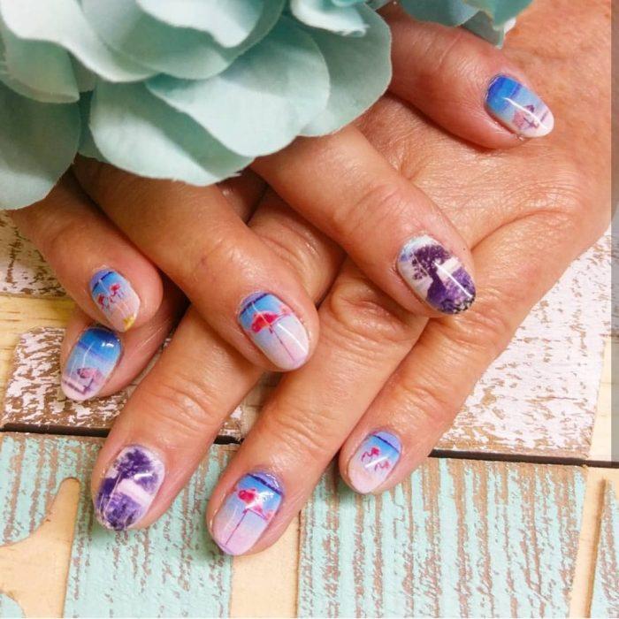 decoración de uñas vacacionales